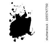 abstract black ink blot... | Shutterstock .eps vector #1055747750