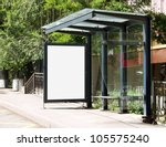 Blank Billboard On Bus Stop Fo...