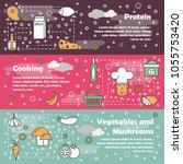 vector set of food horizontal...