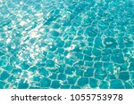 blue ripped in swimming pool... | Shutterstock . vector #1055753978