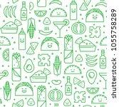 vector seamless pattern of... | Shutterstock .eps vector #1055758289
