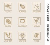vector set of natural... | Shutterstock .eps vector #1055759390
