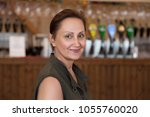 nice portrait of a middle aged...   Shutterstock . vector #1055760020