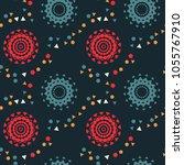 strange space pathways seamless ... | Shutterstock .eps vector #1055767910