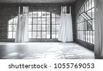large empty bright airy room... | Shutterstock . vector #1055769053