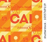 cairo airport tag seamless... | Shutterstock .eps vector #1055769119