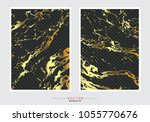 gold marble cover background ... | Shutterstock .eps vector #1055770676
