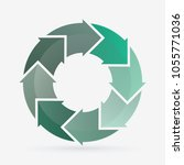 vector circle for infographic... | Shutterstock .eps vector #1055771036