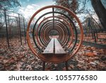 wide angle view of playground... | Shutterstock . vector #1055776580