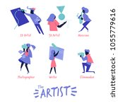 artist icon in vivid colour... | Shutterstock .eps vector #1055779616