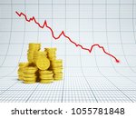 financial falling concept with...   Shutterstock . vector #1055781848