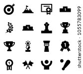 solid vector icon set   target... | Shutterstock .eps vector #1055783099