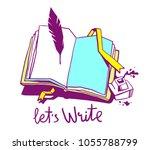 vector creative color... | Shutterstock .eps vector #1055788799