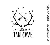 little man cave scandinavian... | Shutterstock .eps vector #1055792360