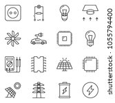 thin line icon set   wiring... | Shutterstock .eps vector #1055794400