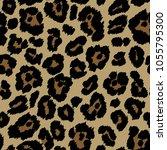 leopard seamless pattern design ... | Shutterstock .eps vector #1055795300