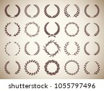 set of twenty circular vintage... | Shutterstock .eps vector #1055797496