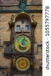 prague astronomical clock   Shutterstock . vector #1055797778