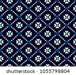 seamless abstract floral... | Shutterstock .eps vector #1055798804