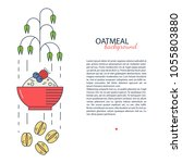 oat and its products vector... | Shutterstock .eps vector #1055803880