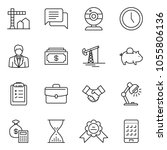 thin line icon set  ... | Shutterstock .eps vector #1055806136