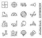 thin line icon set   queen pawn ...