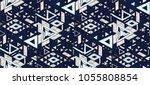 geometric folklore hipster... | Shutterstock .eps vector #1055808854