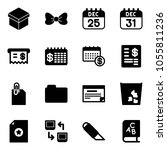 solid vector icon set   gift... | Shutterstock .eps vector #1055811236