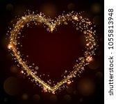 vector shining gold confetti... | Shutterstock .eps vector #1055813948