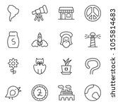 thin line icon set   factory... | Shutterstock .eps vector #1055814683