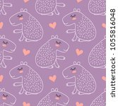 seamless pattern with cute... | Shutterstock . vector #1055816048