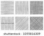 set of textures of horizontal ... | Shutterstock .eps vector #1055816309