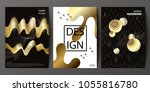 set of cover design with... | Shutterstock .eps vector #1055816780