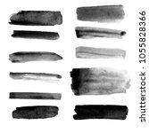 vector set of different grunge... | Shutterstock .eps vector #1055828366