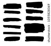 vector set of different grunge... | Shutterstock .eps vector #1055828369