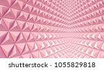 abstract 3d minimalistic... | Shutterstock . vector #1055829818