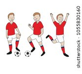 soccer player isolated russia... | Shutterstock .eps vector #1055830160