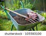 Pitch Fork And Gardening Glove...
