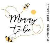 baby shower invitation template ... | Shutterstock .eps vector #1055832173