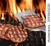 summer party cookout food. bbq...   Shutterstock . vector #1055833220