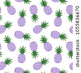 purple pineapple with triangles ... | Shutterstock . vector #1055836670