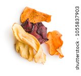 mixed fried vegetable chips... | Shutterstock . vector #1055837903