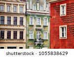 old buildings facades in the...   Shutterstock . vector #1055838629