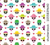 vector seamless pattern with... | Shutterstock .eps vector #1055839640