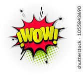 wow sound hand drawn pictures...   Shutterstock .eps vector #1055843690