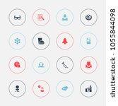 set of 16 editable education... | Shutterstock .eps vector #1055844098