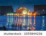 lagos  nigeria skyline at dawn | Shutterstock . vector #1055844236