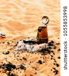 Small photo of Traditional Omani tea in the desert