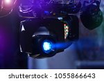 lighting moving heads in a... | Shutterstock . vector #1055866643