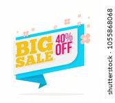 big sale offer poster  spring...   Shutterstock .eps vector #1055868068
